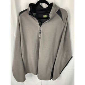 Timberland XL 1/4 zip pullover tan black